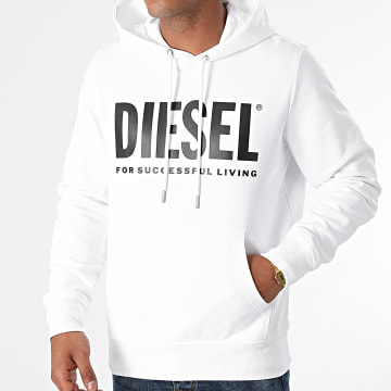 Diesel - Sweat Capuche Girk Ecologo A02813-0BAWT Blanc