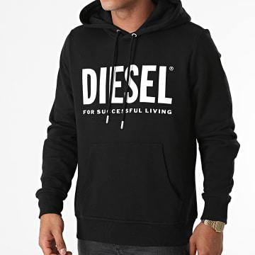 Diesel - Sweat Capuche Girk Ecologo A02813-0BAWT Noir