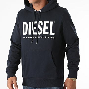 Diesel - Sweat Capuche Girk Ecologo A02813-0BAWT Bleu Marine
