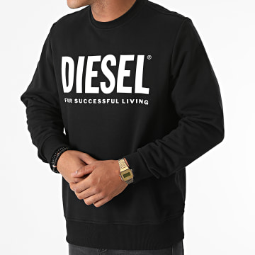 Diesel - Sweat Crewneck Girk Ecologo A02864-0BAWT Noir