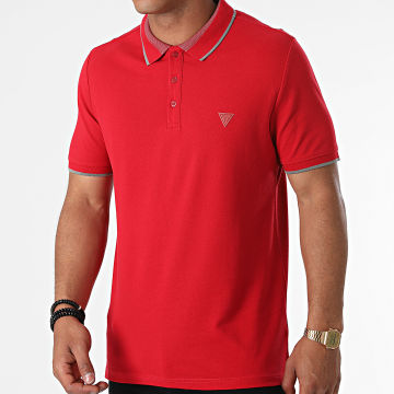 Guess - Polo Manches Courtes M1YP60-K7O61 Rouge