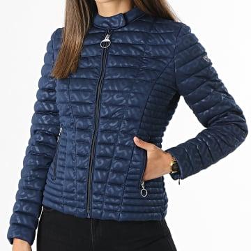 Guess - Veste Zippée Femme W1RL68-KAF92 Bleu Marine