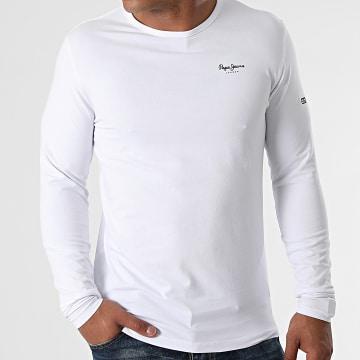Pepe Jeans - Tee Shirt Manches Longues Original Basic 2 Blanc