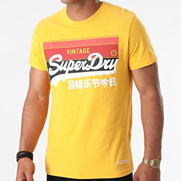 Superdry - Tee Shirt VL Cali Stripe M1011000A Jaune