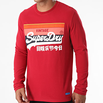 Superdry - Tee Shirt Manches Longues Vintage Logo Cali M6010455A Rouge