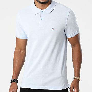 Tommy Hilfiger - Polo Manches Courtes Slim Tommy Heather 3083 Bleu Clair