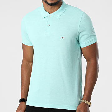 Tommy Hilfiger - Polo Manches Courtes Slim Tommy Heather 3083 Vert Clair
