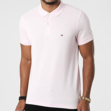 Tommy Hilfiger - Polo Manches Courtes Slim Tommy Heather 3083 Rose