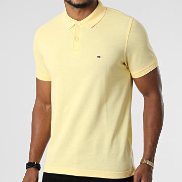 Tommy Hilfiger - Polo Manches Courtes Slim Tommy Heather 3083 Jaune Clair