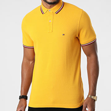 Tommy Hilfiger - Polo Manches Courtes Tipped 6054 Jaune Moutarde