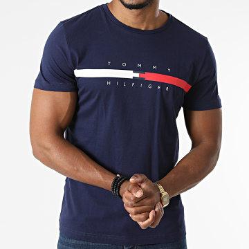 Tommy Hilfiger - Tee Shirt Global Stripe Chest 6572 Bleu Marine