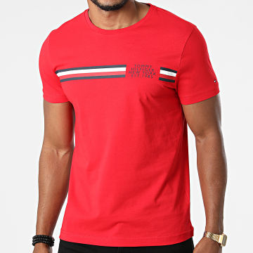 Tommy Hilfiger - Tee Shirt Corp Split 6592 Rouge