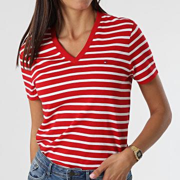 Tommy Hilfiger - Tee Shirt Femme New 7736 Rouge