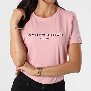 Tommy Hilfiger - Tee Shirt Femme Regular 8681 Rose