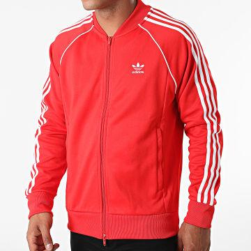 Adidas Performance - Veste Zippée A Bandes H06711 Rouge