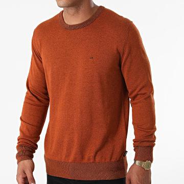 Calvin Klein - Pull Cotton Silk 7807 Marron