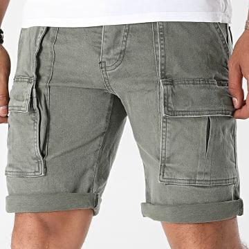 Uniplay - Short Jogg Jean 552 Vert Kaki