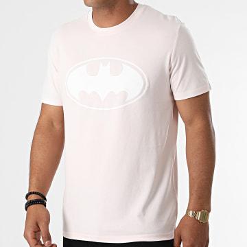 DC Comics - Tee Shirt Logo Rose Blanc