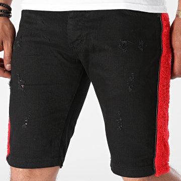 Black Industry - Short Jean A Bandes P370 Noir