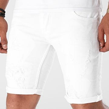 Black Industry - Short Jean 5000 Blanc