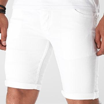 Black Industry - Short Jean 5001 Blanc