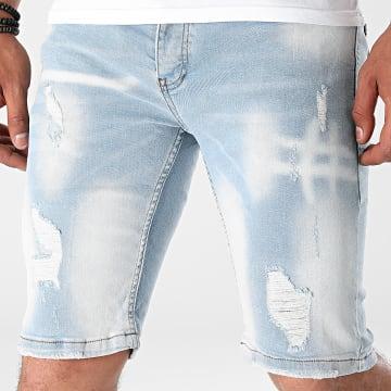 Black Industry - Short Jean 5010 Bleu Denim