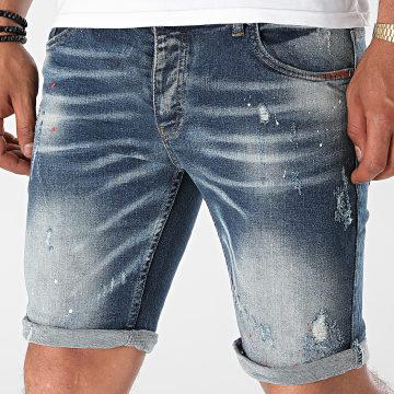 Black Industry - Short Jean 5012 Bleu Denim
