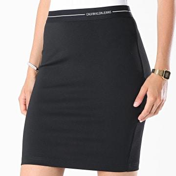 Calvin Klein - Jupe Femme Milano Logo Elastic 6286 Noir