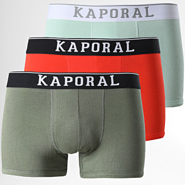 Kaporal - Lot De 3 Boxers Quad Orange Vert