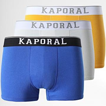 Kaporal - Lot De 3 Boxers Quad Jaune Bleu Marine Blanc