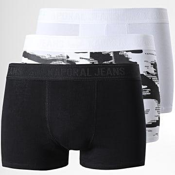 Kaporal - Lot De 3 Boxers Rand Noir Blanc