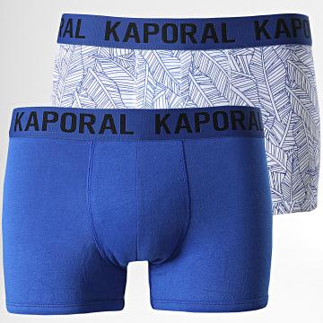 Kaporal - Lot De 2 Boxers Rocky Bleu Roi Blanc
