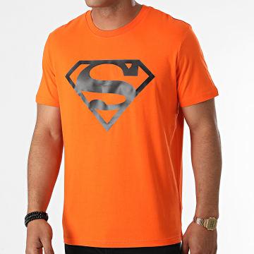 DC Comics - Tee Shirt Logo Orange Noir