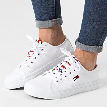 Tommy Jeans - Baskets Femme Low Cut Vulcanized 1417 White