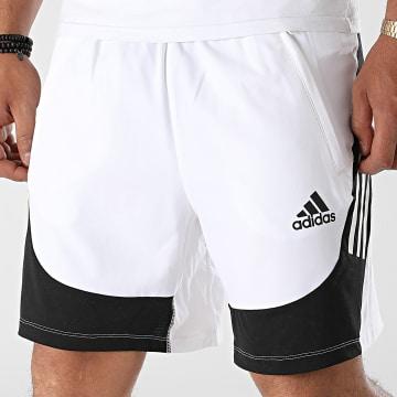 Adidas Performance - Short Jogging Aero 3 Stripes H16871 Blanc