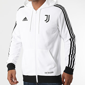 Adidas Performance - Sweat Zippé Capuche A Bandes Juventus 3 Stripes GR2930 Ecru