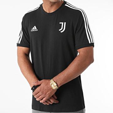 Adidas Performance - Tee Shirt A Bandes Juventus 3 Stripes GR2933 Noir