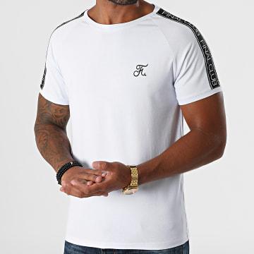 Final Club - Tee Shirt Avec Bandes Et Broderie 600 Blanc