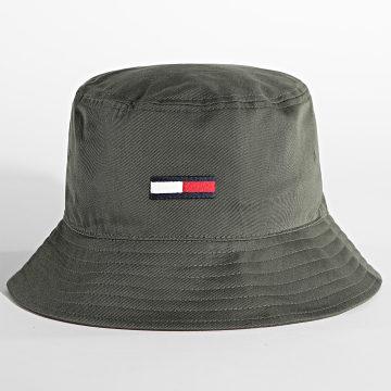 Tommy Jeans - Bob Flag Bucket 7525 Vert Kaki