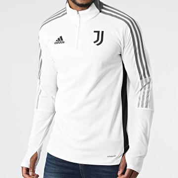 Adidas Performance - Sweat Col Zippé A Bandes Juventus GR2969 Blanc