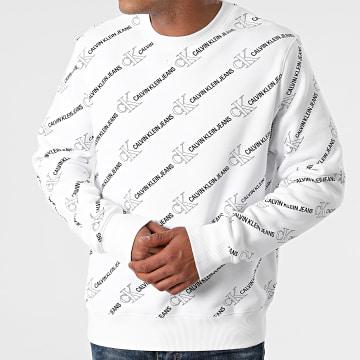 Calvin Klein - Sweat Crewneck Logo AOP 8397 Blanc