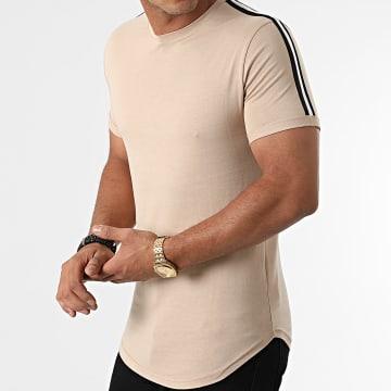 LBO - Tee Shirt Oversize A Bandes 1776 Beige