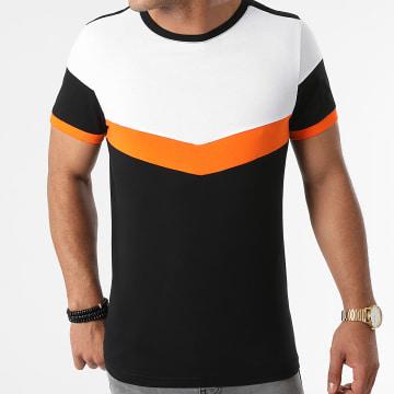 LBO - Tee Shirt Tricolore 1854 Noir Blanc Orange