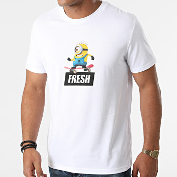 Les Minions - Tee Shirt Fresh Blanc