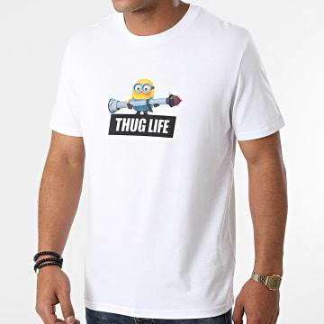 Les Minions - Tee Shirt Thug Life Blanc