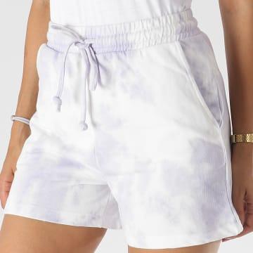 Only - Short Jogging Femme Tie Dye Maya Violet Blanc