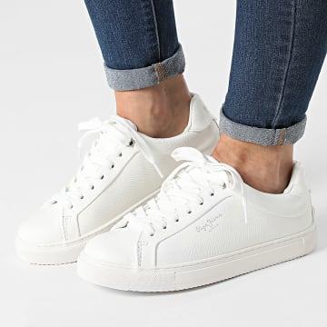 Pepe Jeans - Baskets Femme Adams Collins PLS31199 Off White