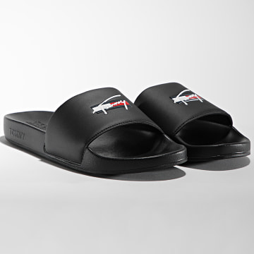 Tommy Jeans - Claquettes Tommy Signature 0729 Black