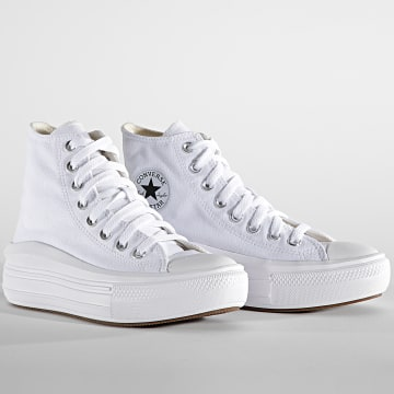 Converse - Baskets Femme CTAS Move Hi 568498 White Natural Ivory Black