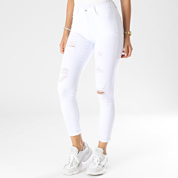 Girls Outfit - Jean Skinny Femme G2133 Blanc